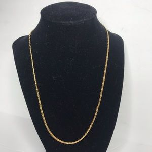 "Vintage 14 KT Gold Plated 9.5"" Necklace"